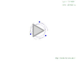 3-body orbit simulation