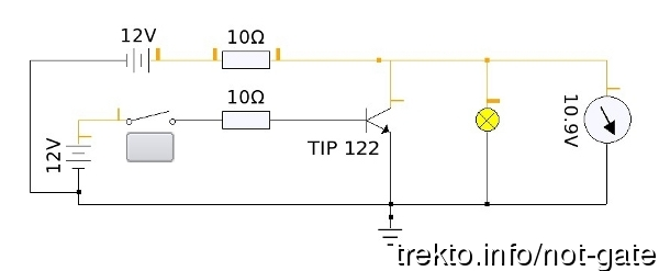 not gate circuit diagram