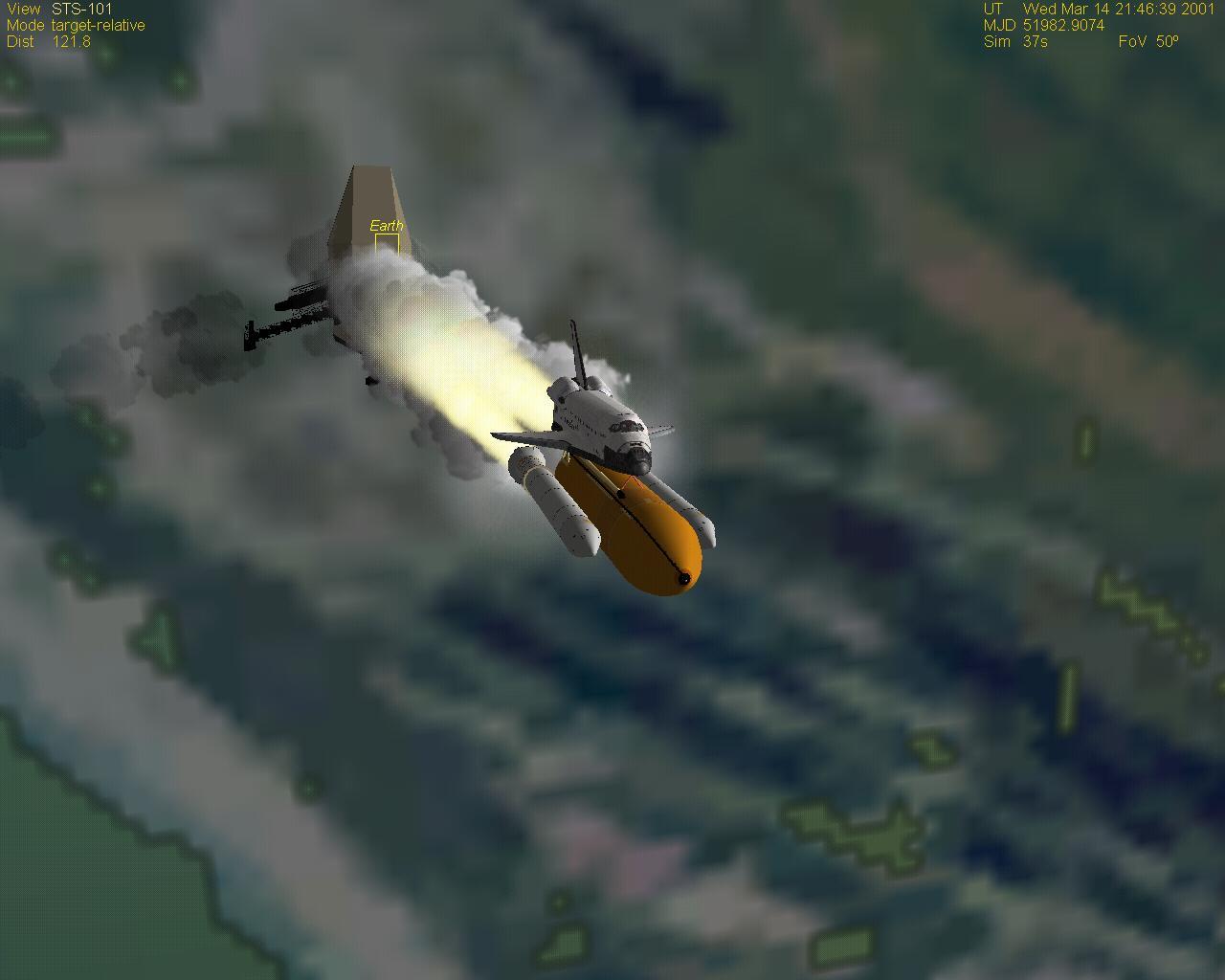космическа совалка симулация